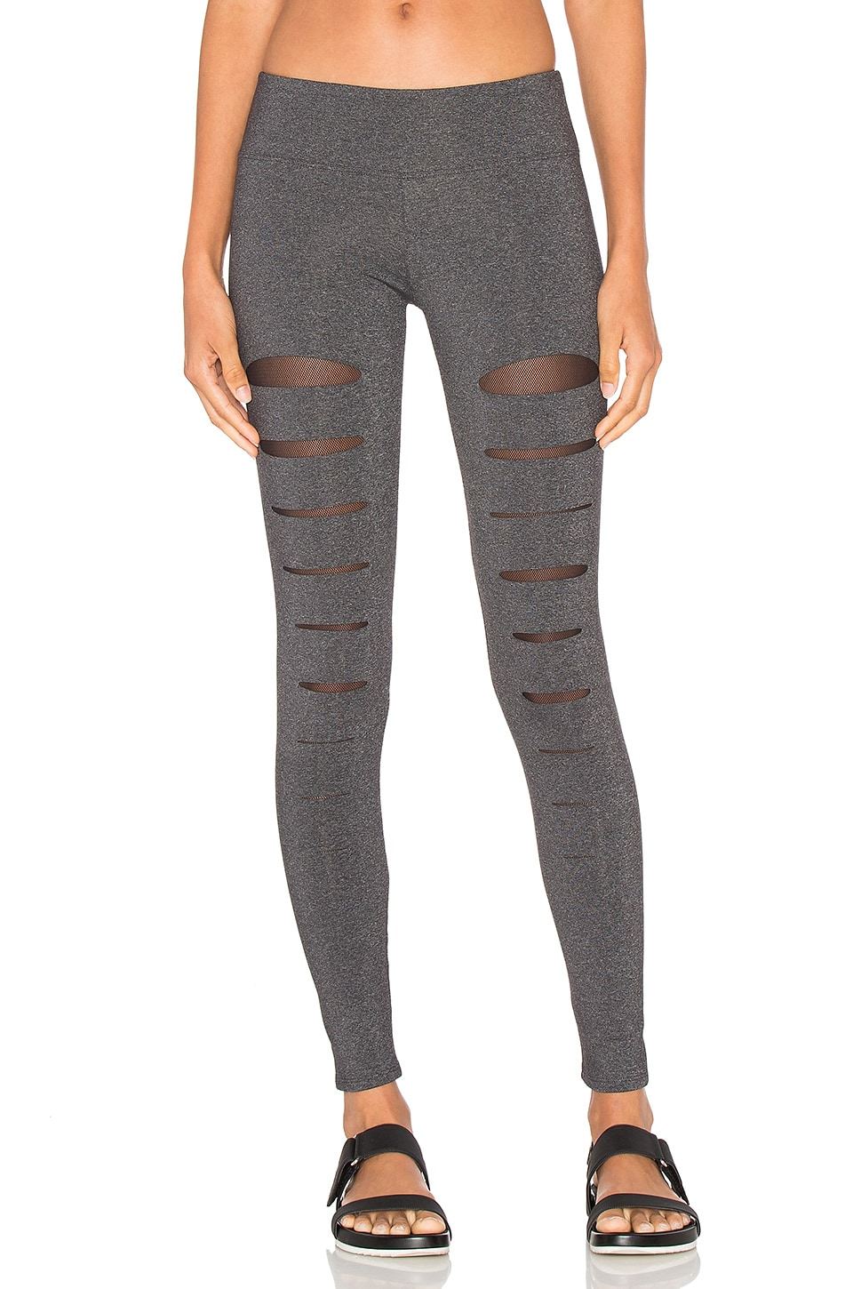 SOLOW Incise Legging in Charcoal