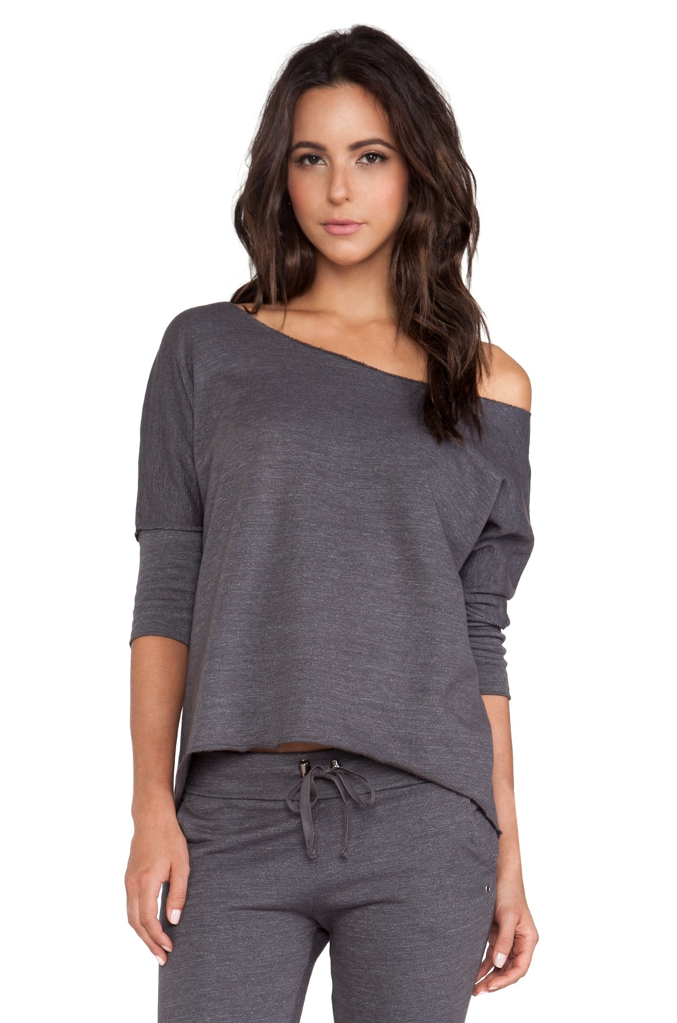 SOLOW So Low Dolman Tee in Carbon