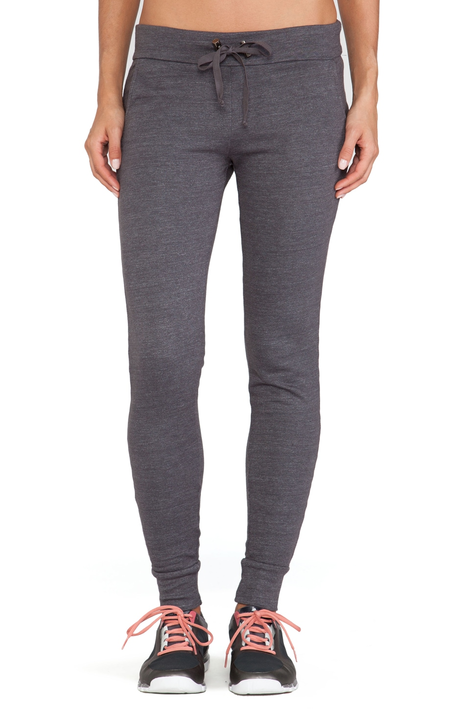 SOLOW So Low Slouchy Pant in Carbon