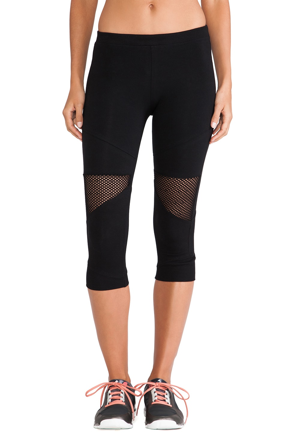 SOLOW Crop Mesh Legging in Black