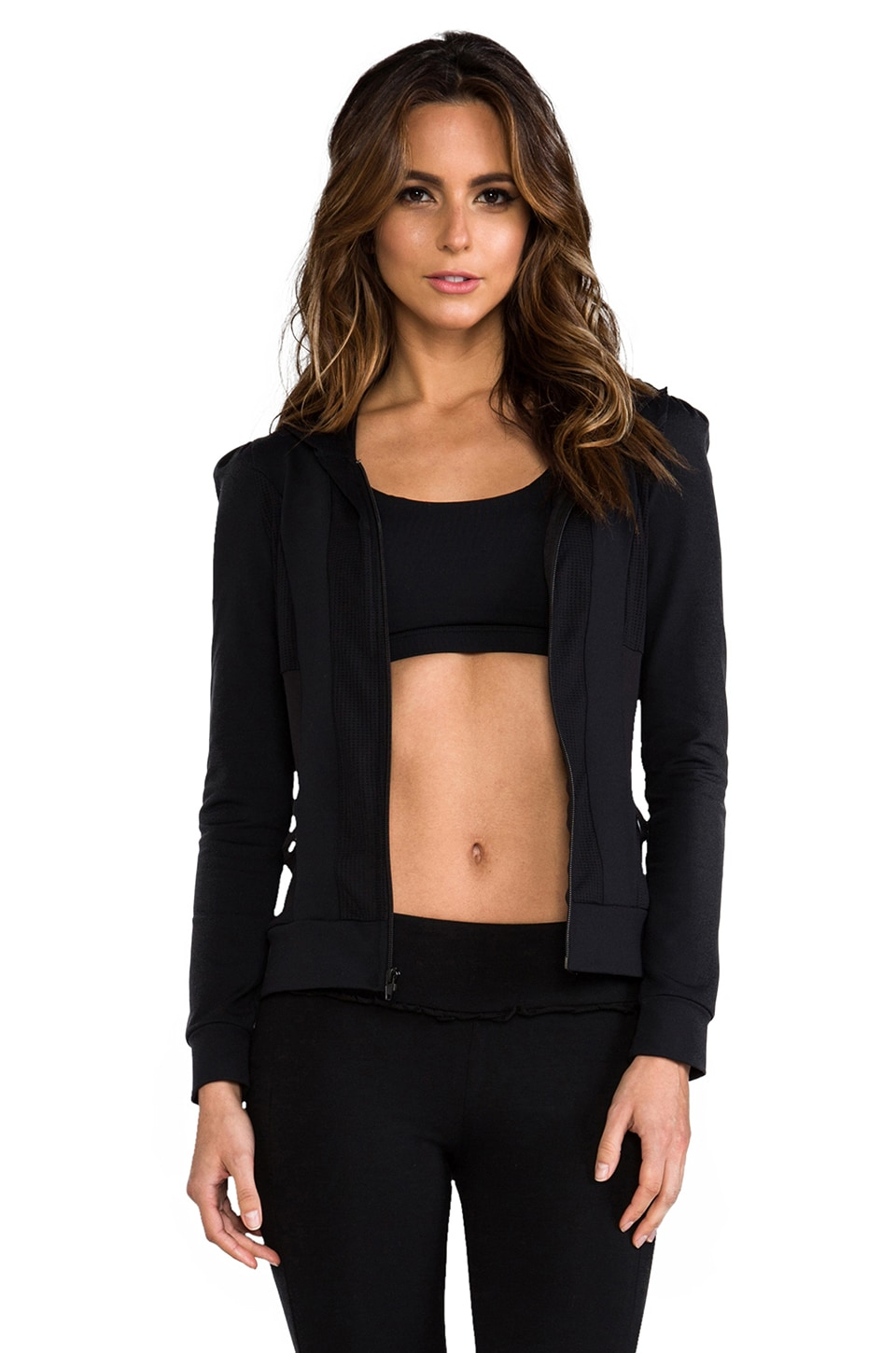 SOLOW Eclon Puff Sleeve Jacket in Black