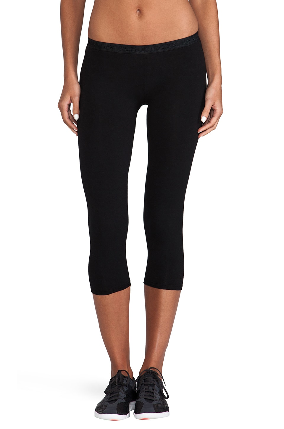SOLOW Basic Crop Legging in Black