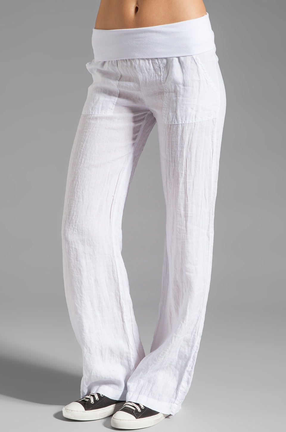 SOLOW Linen Pant in White