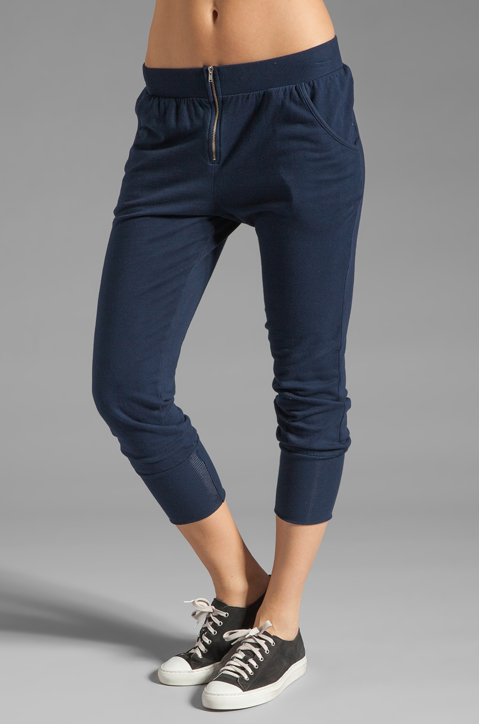 SOLOW Slouchy Ankle Pant in Navy