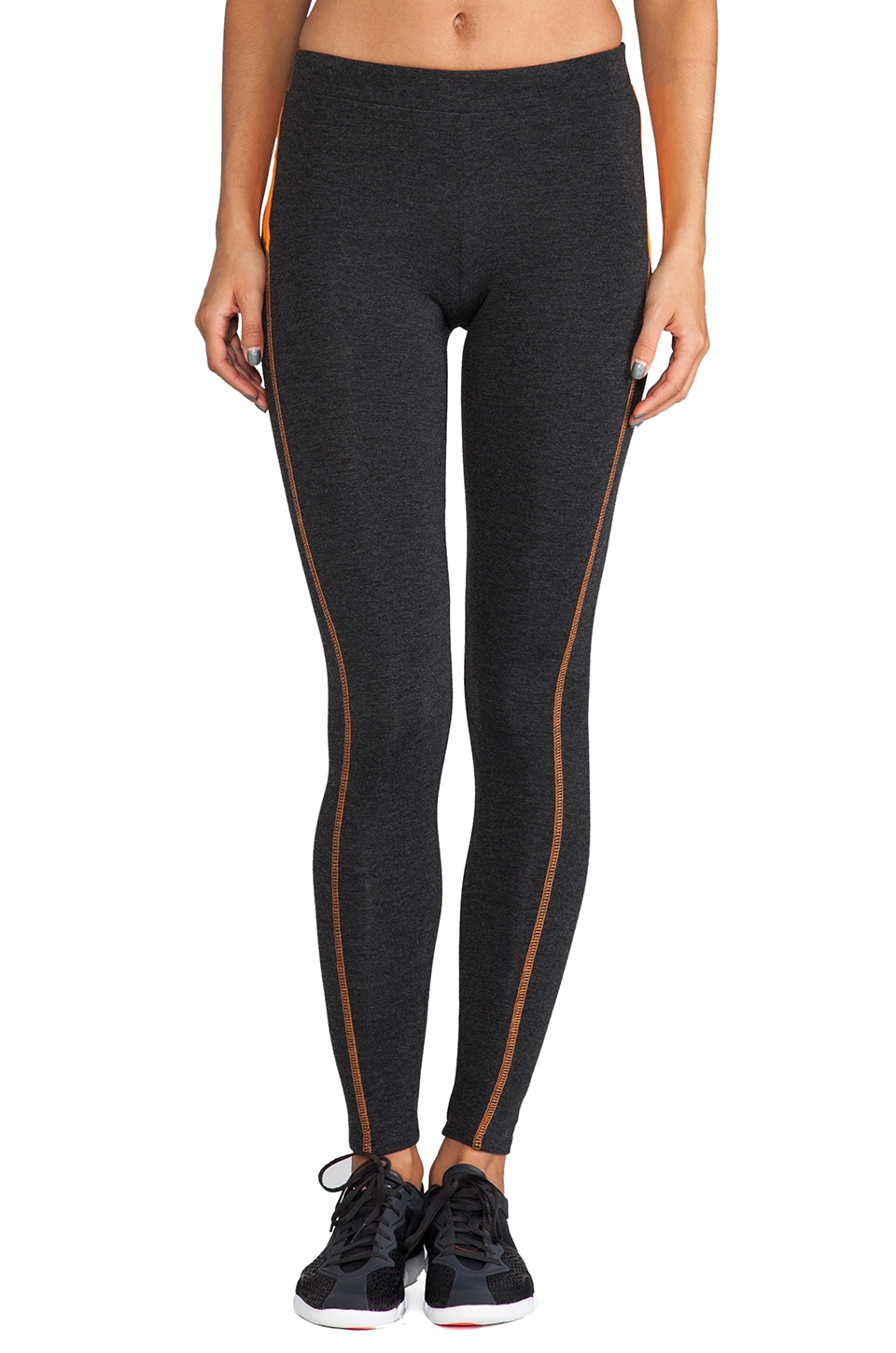 SOLOW 90/10 Legging with Contrast in Charcoal/Monarch/Quartz