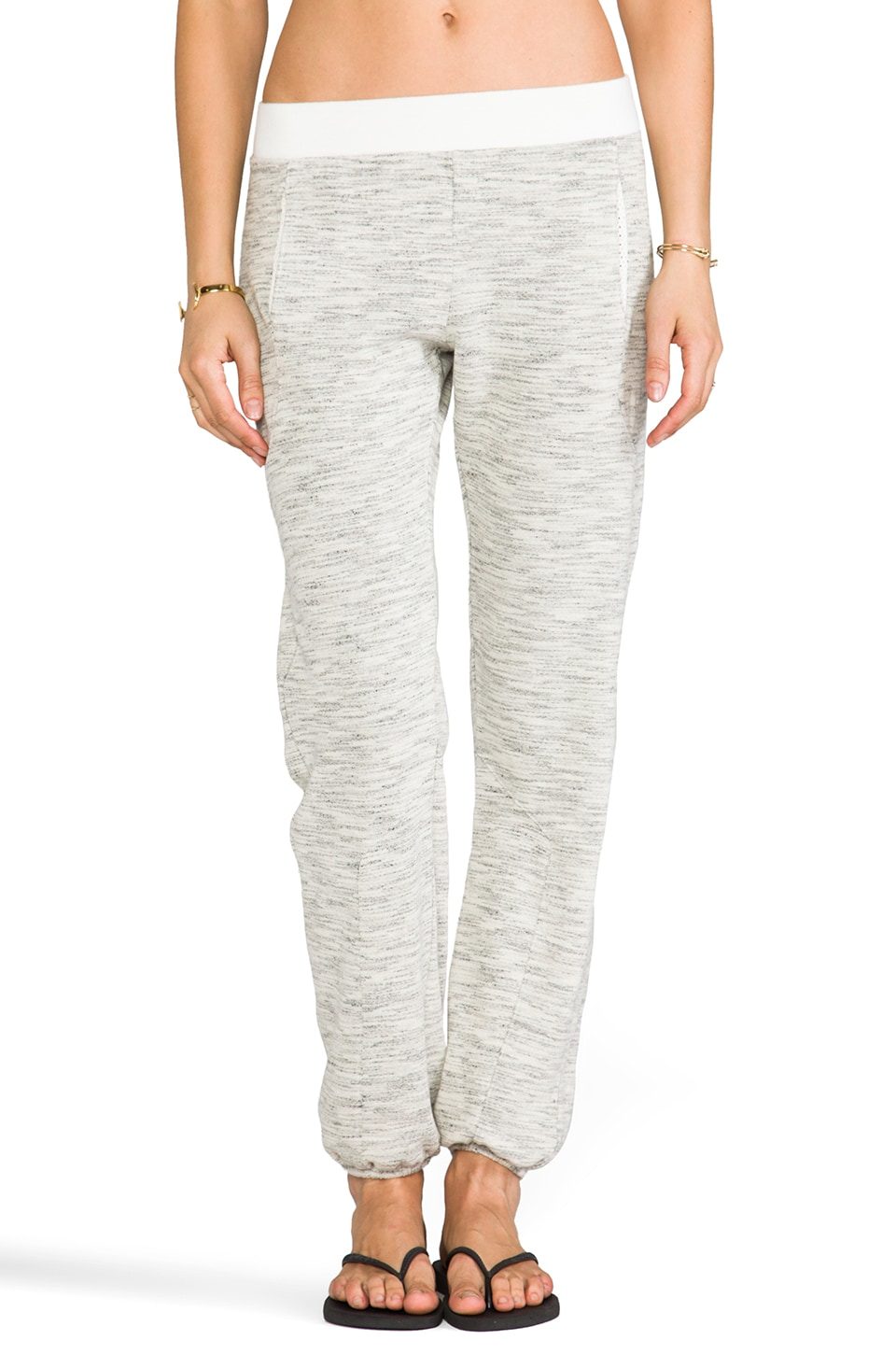 SOLOW Movie Night Fleece Old School Pant in Whisper