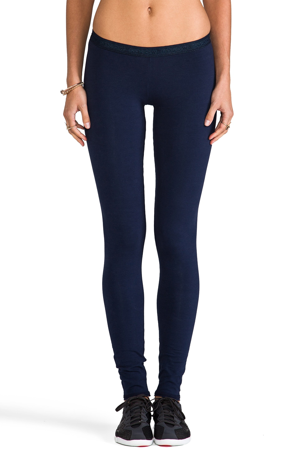 SOLOW Low Rise Legging in Navy