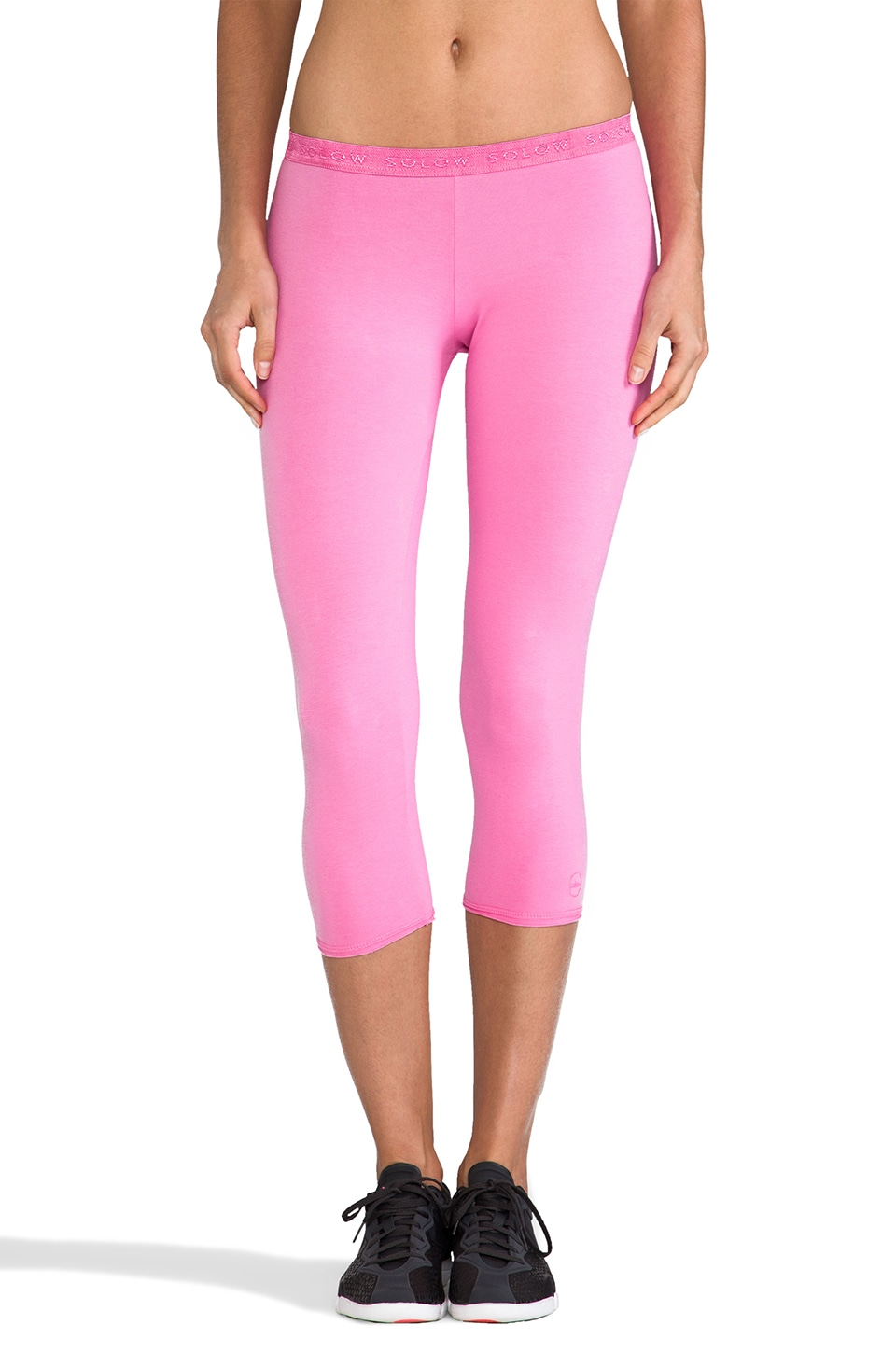 SOLOW Low Rose Crop Legging in Princess