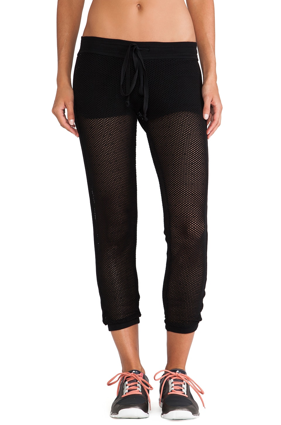 SOLOW Cropped Track Pant in Black