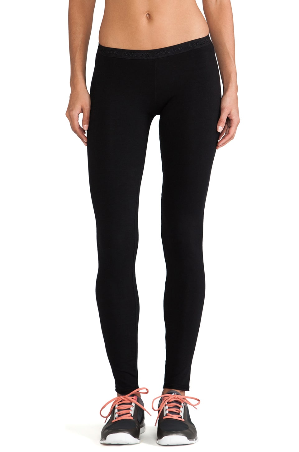 SOLOW Basics Long Leggings in Black