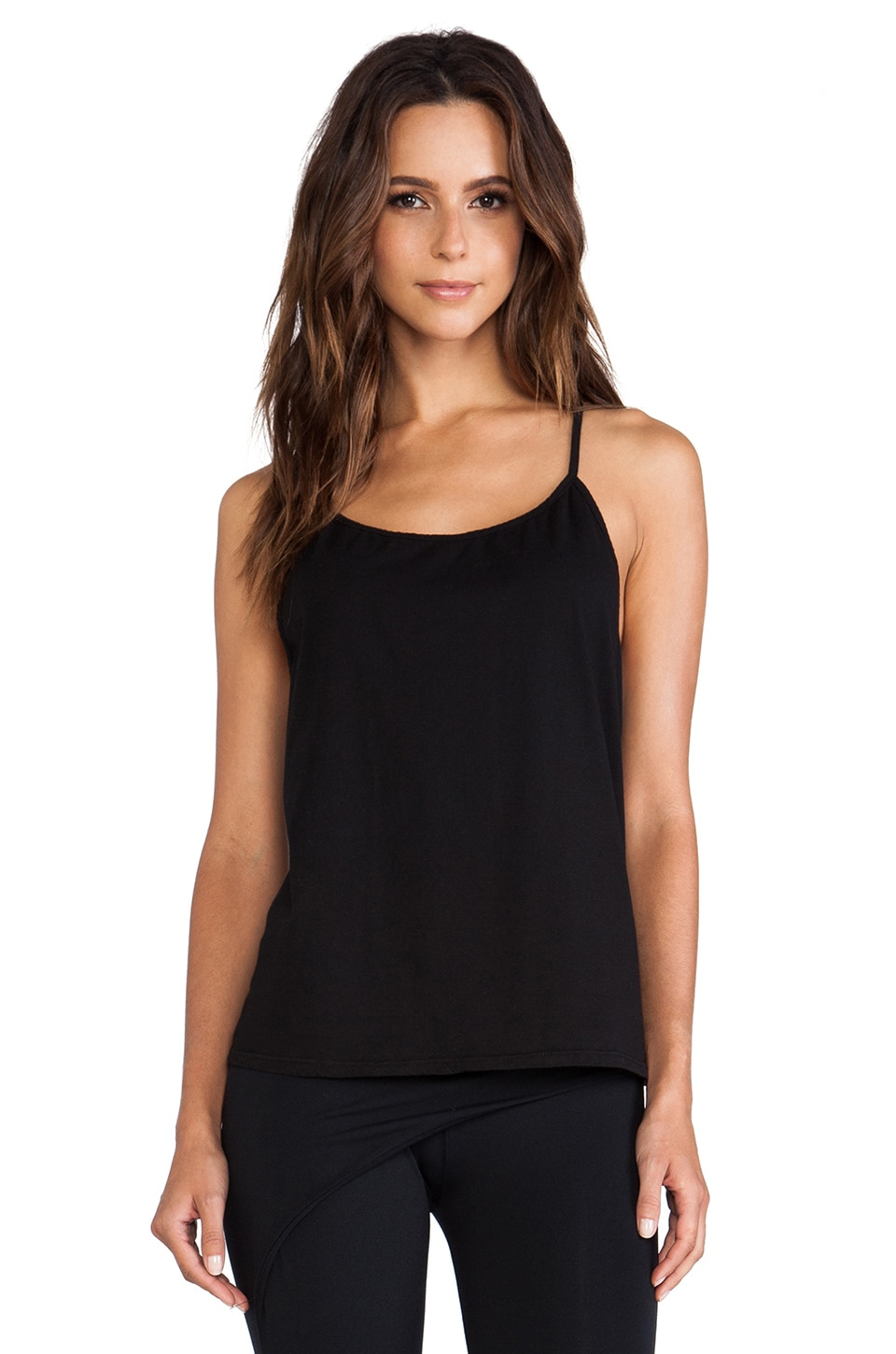 SOLOW So Low A-Line Racerback Tank in Black