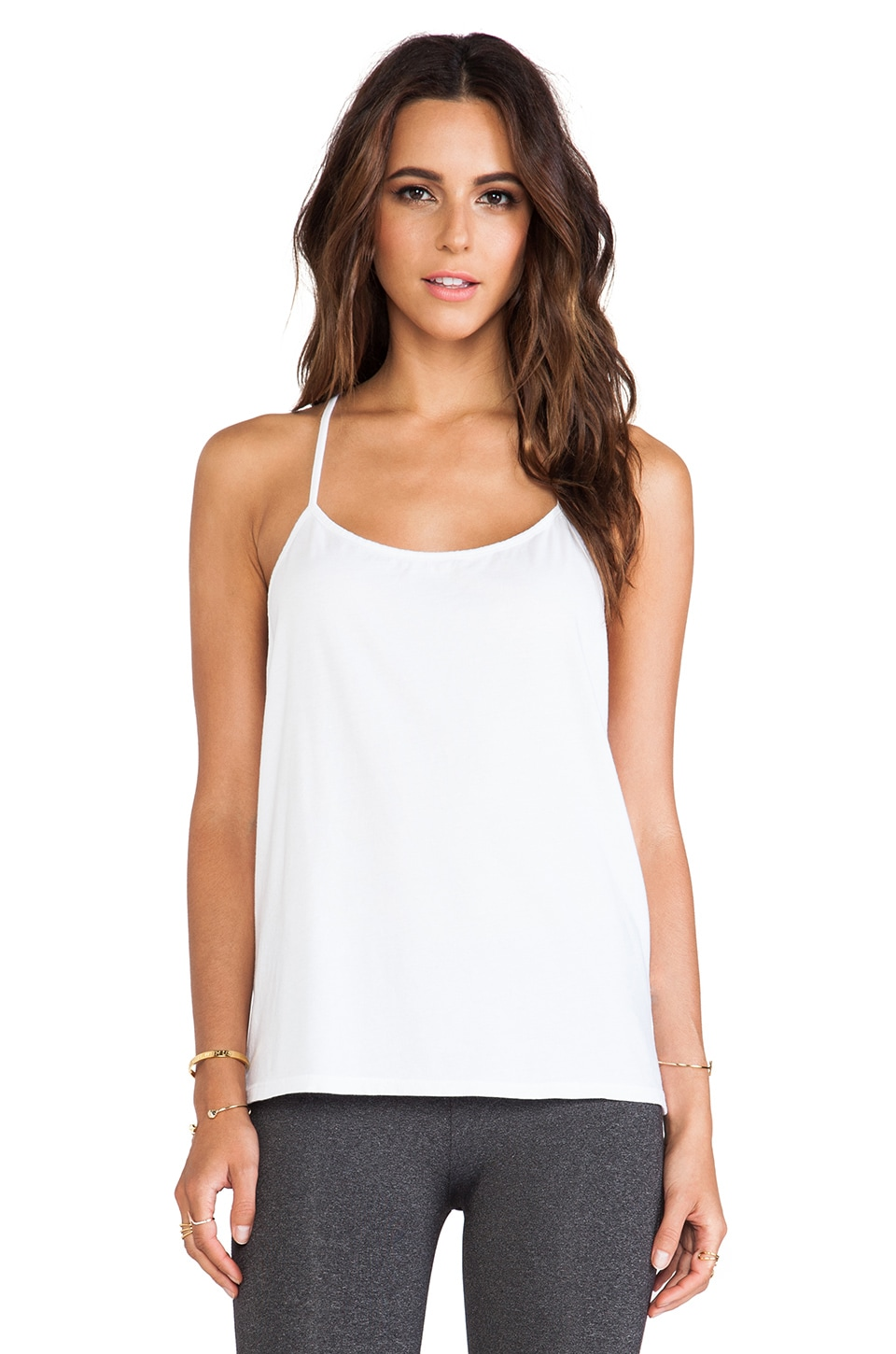 SOLOW So Low A-Line Racerback Tank in White