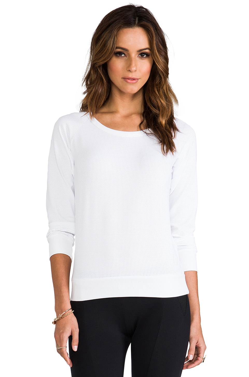 SOLOW Eclon Mesh Running Top in White