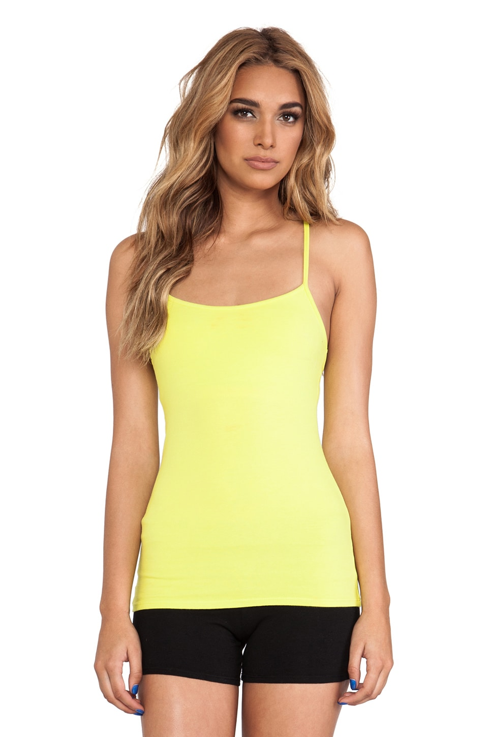 SOLOW Racerback Workout Cami in Citron