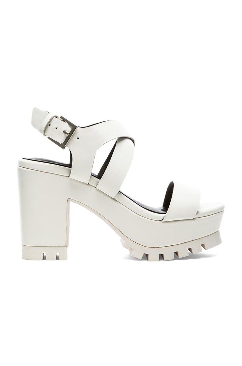 SOLES Oktoberfest Heeled Sandal in White