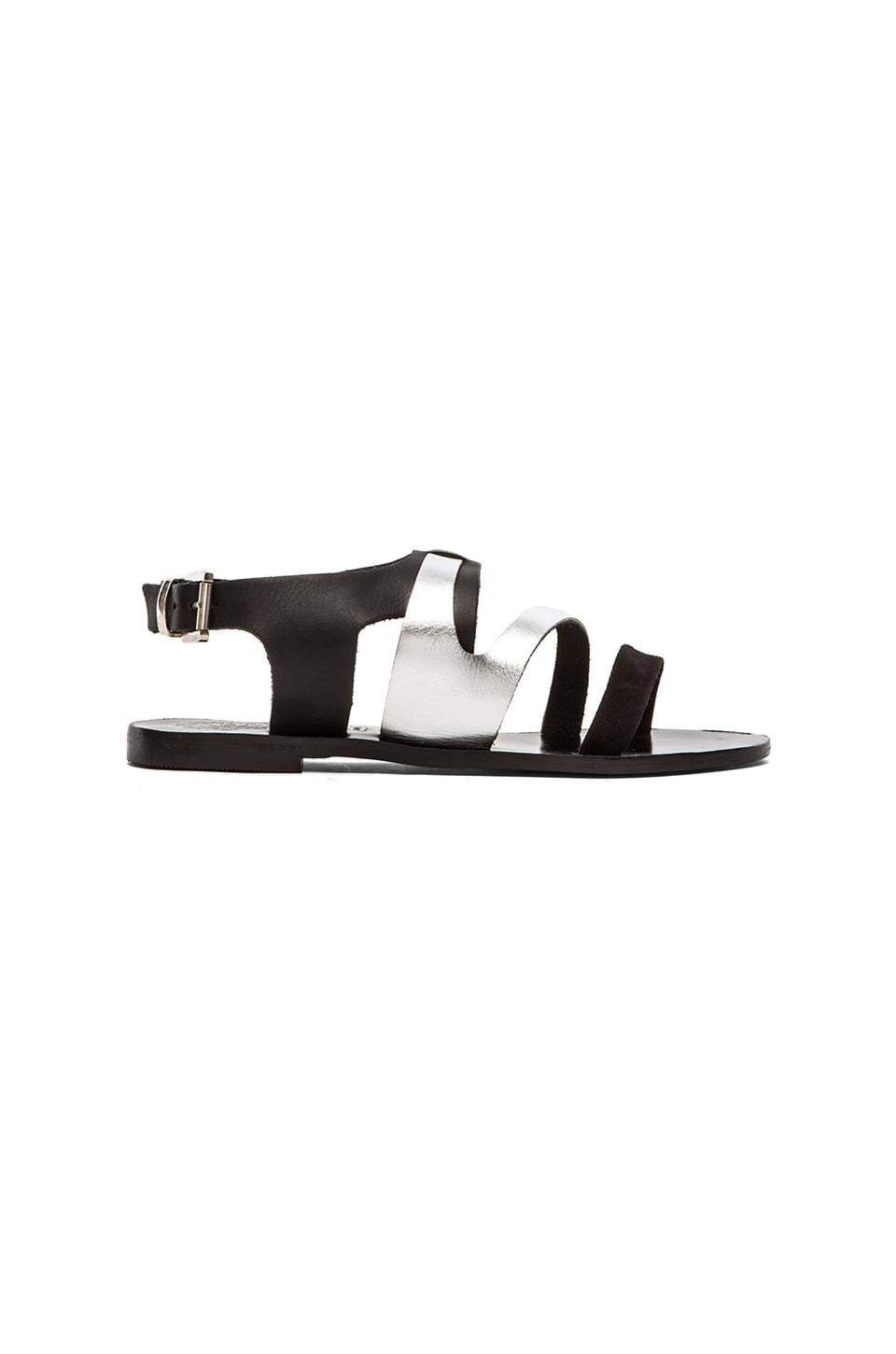 Sol Sana Asha Sandal in Black & Metallic