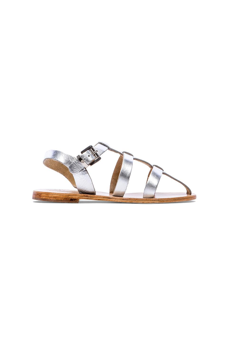 Sol Sana Art Sandal in Metallic Silver