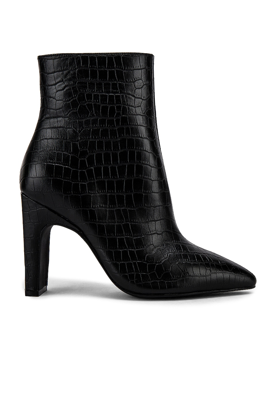 Sol Sana Scottie Bootie in Black Croc