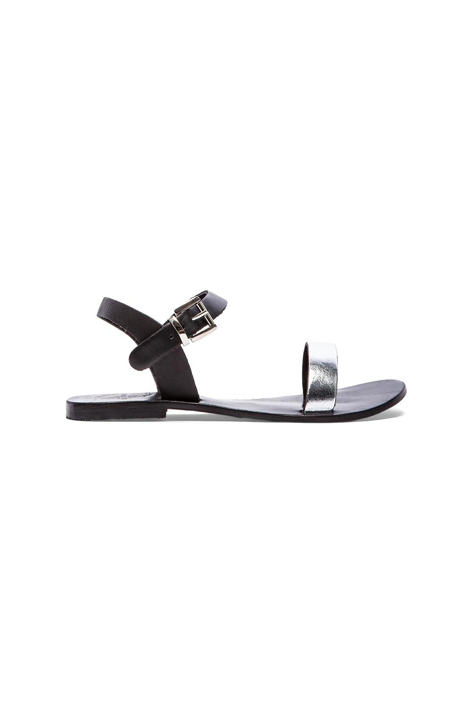 Sol Sana Rebel II Sandal in Black & Silver
