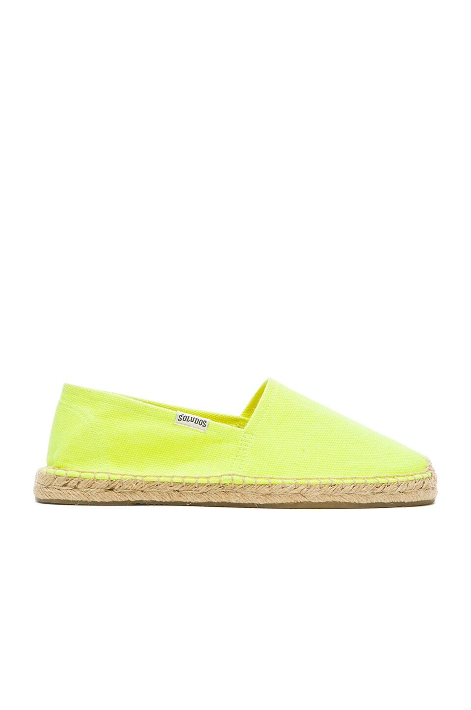 Soludos Original Dali Espadrille in Neon Yellow