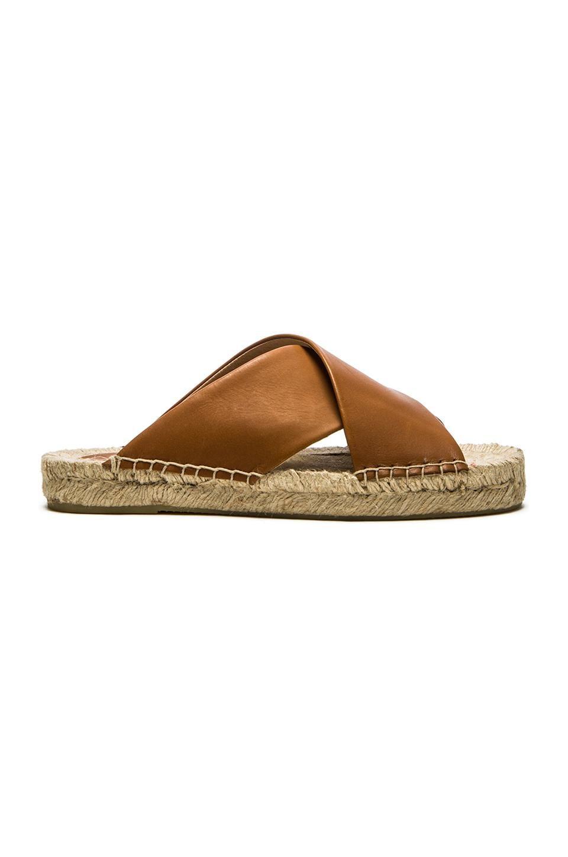 a70d1666180 Soludos Criss Cross Platform Sandal in Tan | REVOLVE