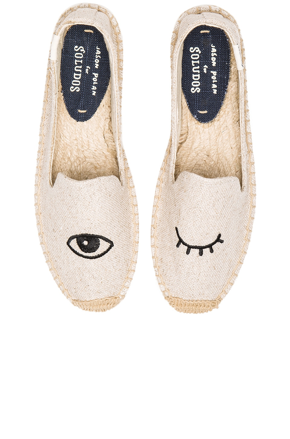 Soludos Wink Embroidery SM Slipper in Sand