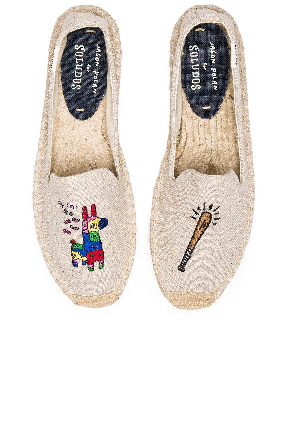 Soludos Pinata Embroidery SM Slipper in Sand