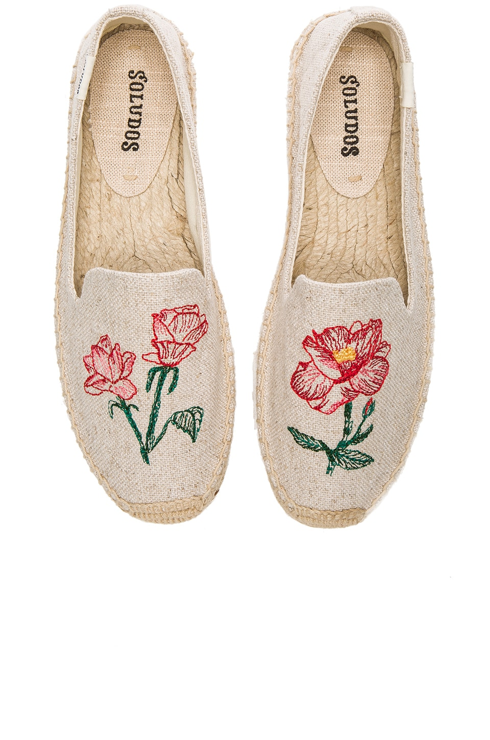 Soludos Embroidered Smoking Slipper in Sand