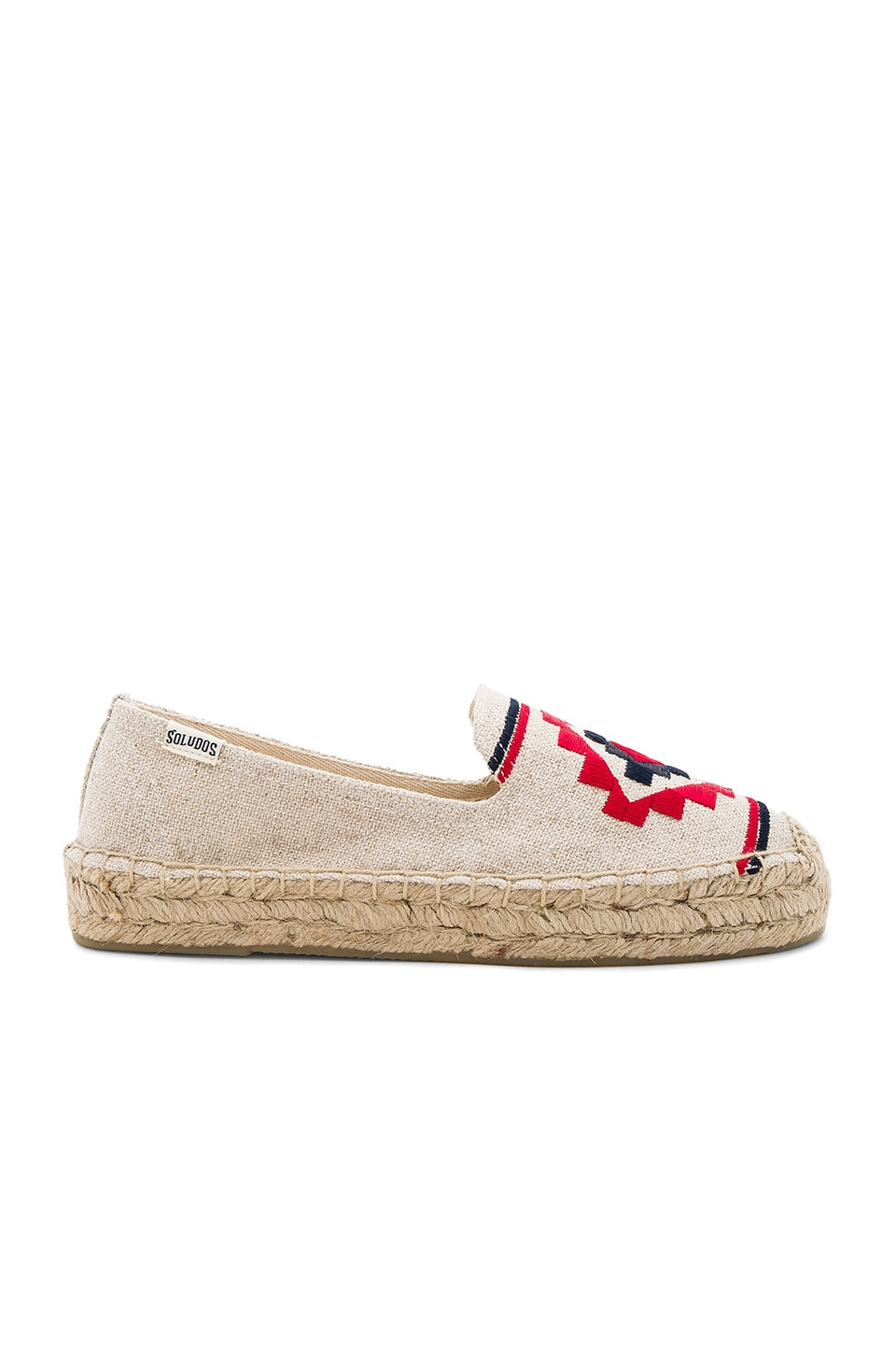 Soludos Embroidered Platform Smoking Slipper