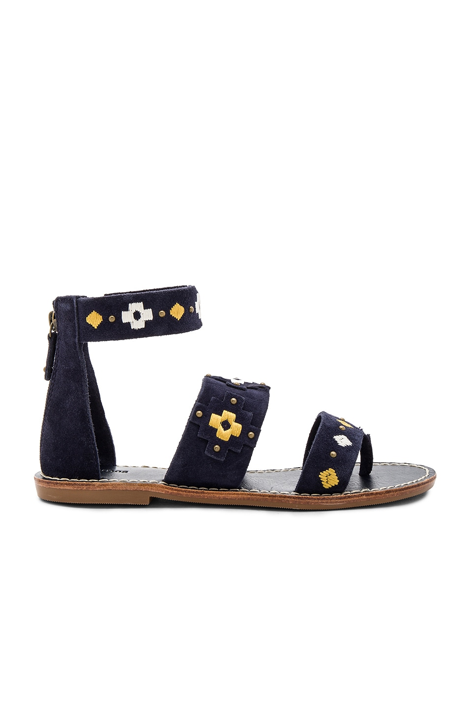 Embroidered Three Banded Sandal by Soludos