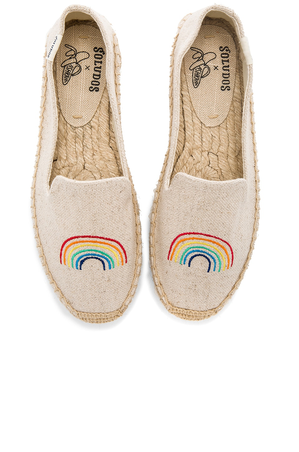 Soludos x Ashkahn Rainbow Platform Smoking Slipper in Sand