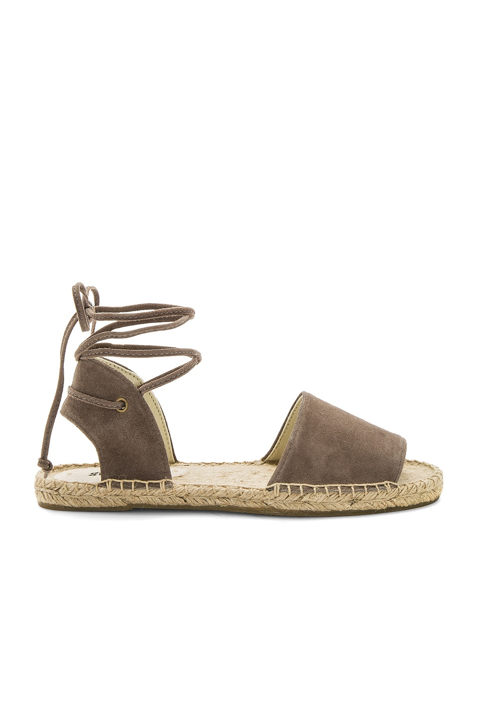 Soludos Balearic Tie Up Sandal in Dove Gray
