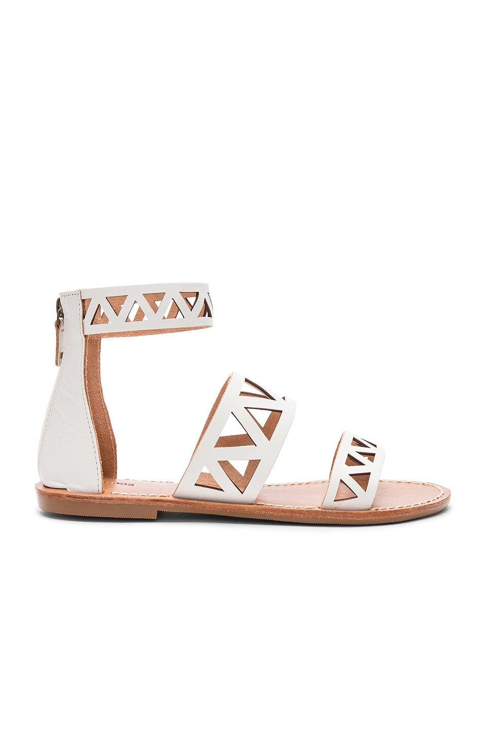 Geo Laser Cut Band Sandal by Soludos