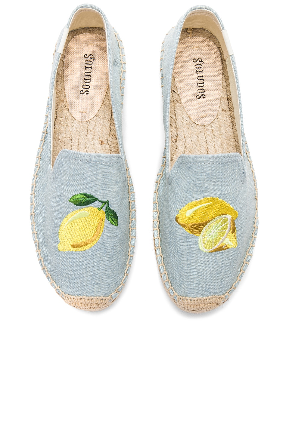 Soludos Lemon Platform in Chambray