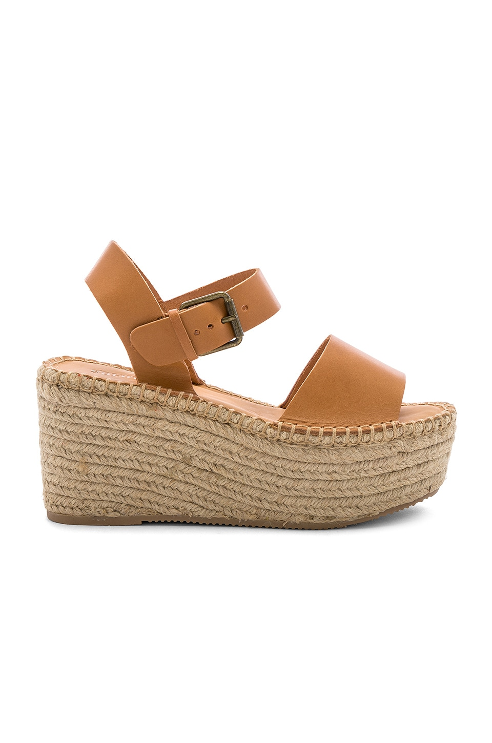 Soludos Minorca High Platform in Nude