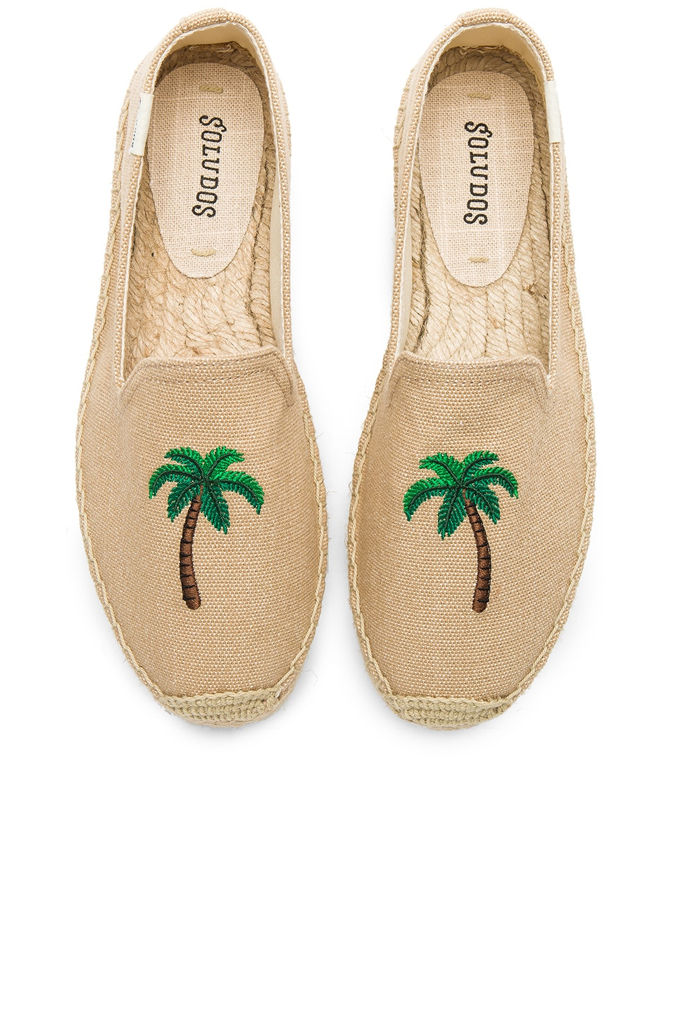 Soludos Palm Tree Smoking Slipper in Safari