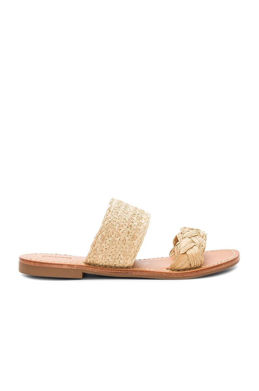 Raffia Braided Slide Sandal