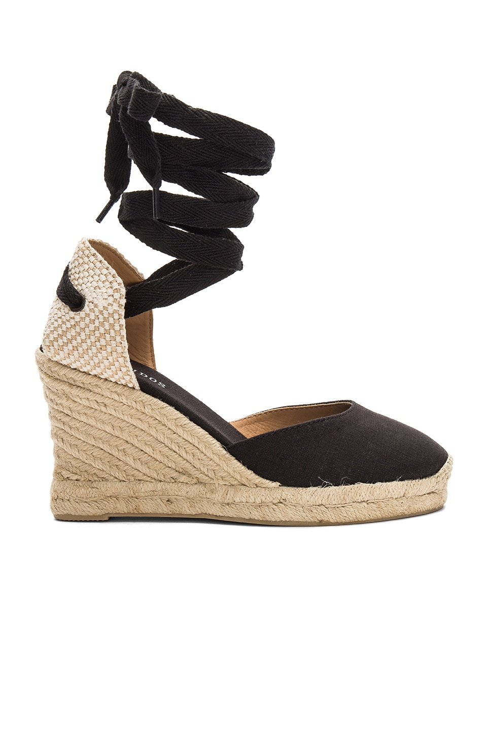 Soludos Tall Wedge in Black