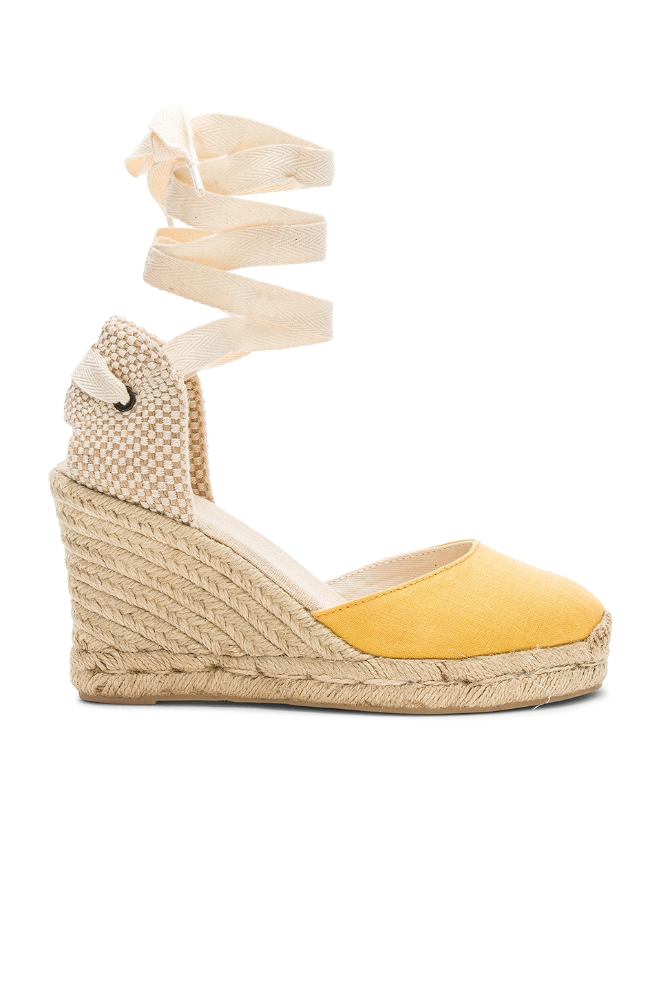 Soludos Tall Wedge in Marigold