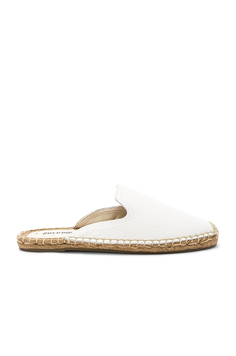 Soludos Tumbled Leather Mule in White