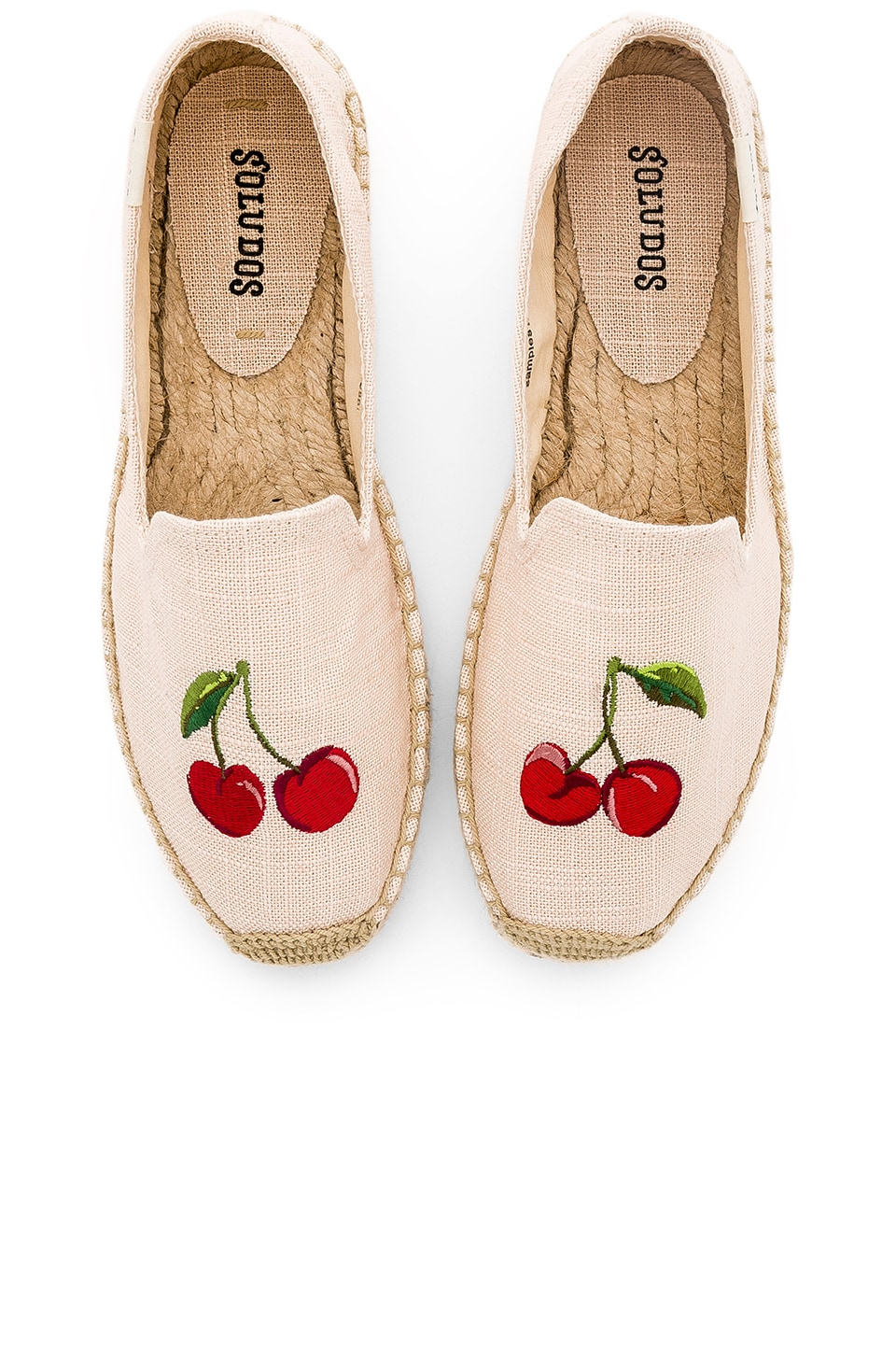Soludos Cherries Smoking Slipper in Blush