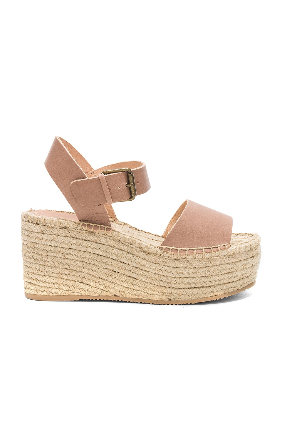 Soludos Minorca High Platform Sandal in Dove Gray