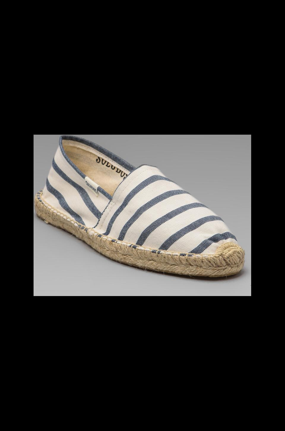 Soludos Classic Stripe in White Navy