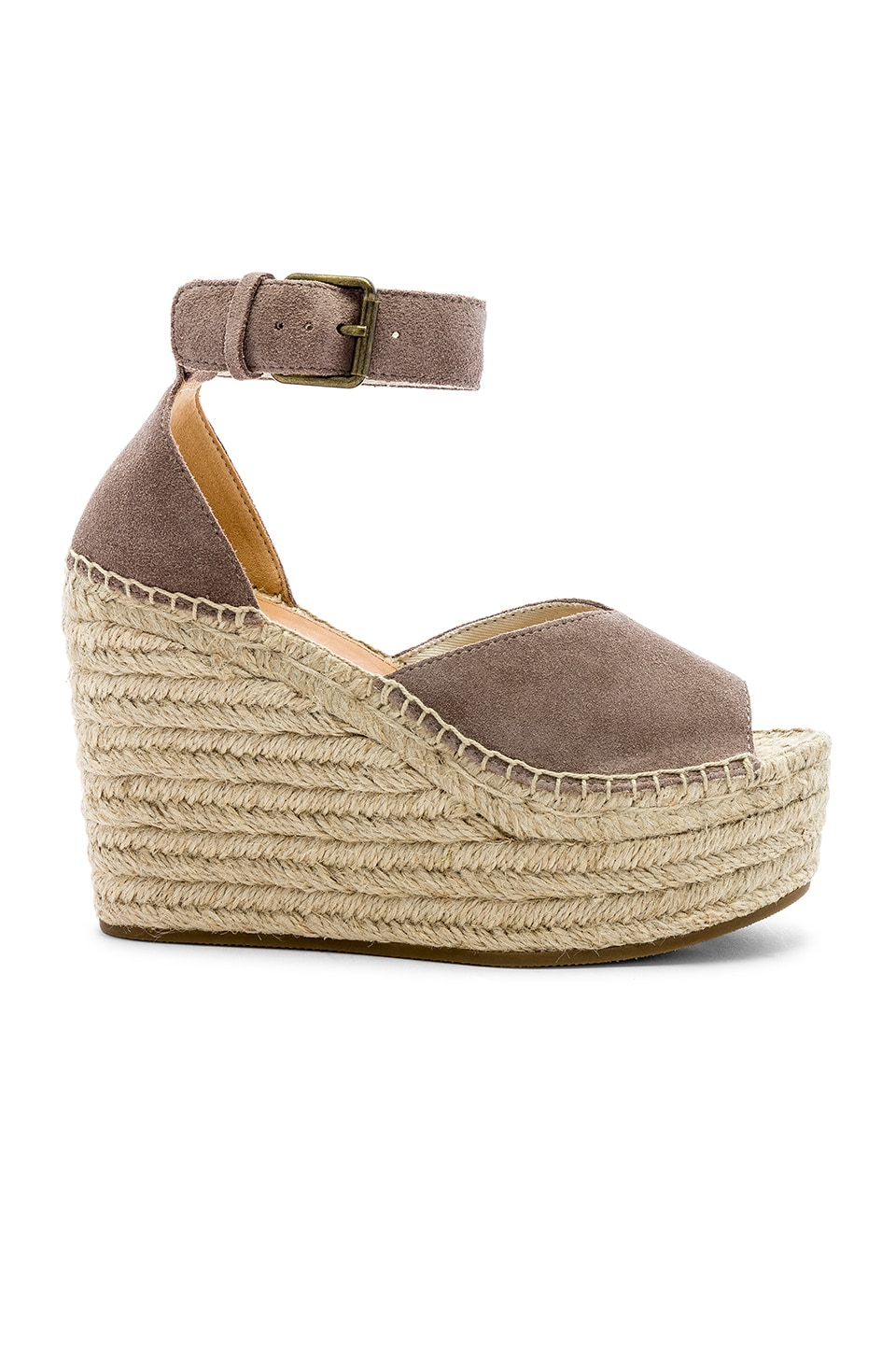 Soludos Positano Platform Wedge in Ash