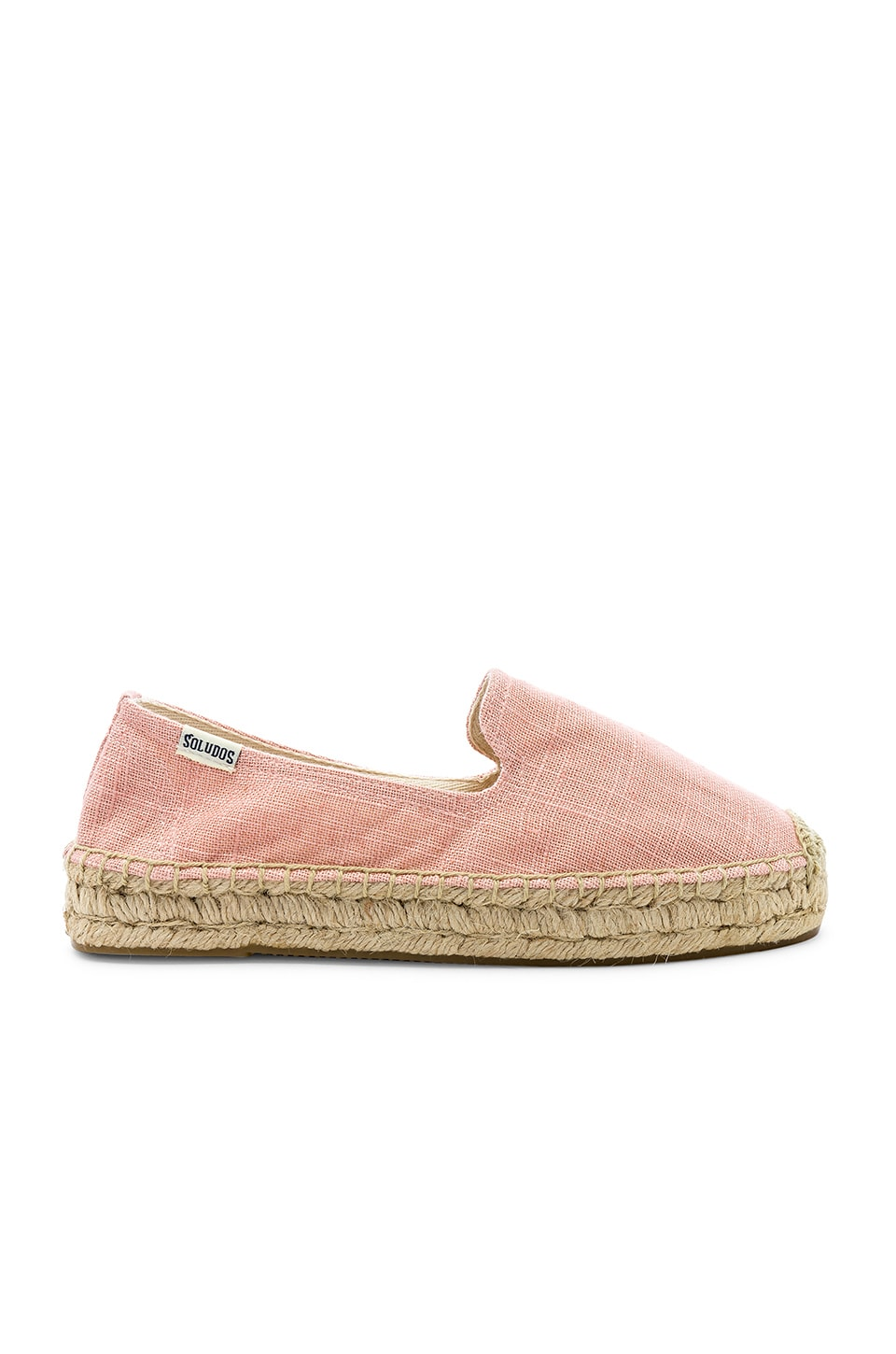 Soludos Platform Smoking Slipper in Dusty Rose