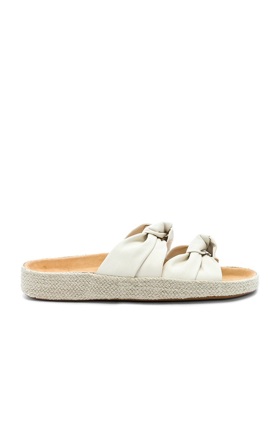 Soludos Knotted Summer Slide in Ivory