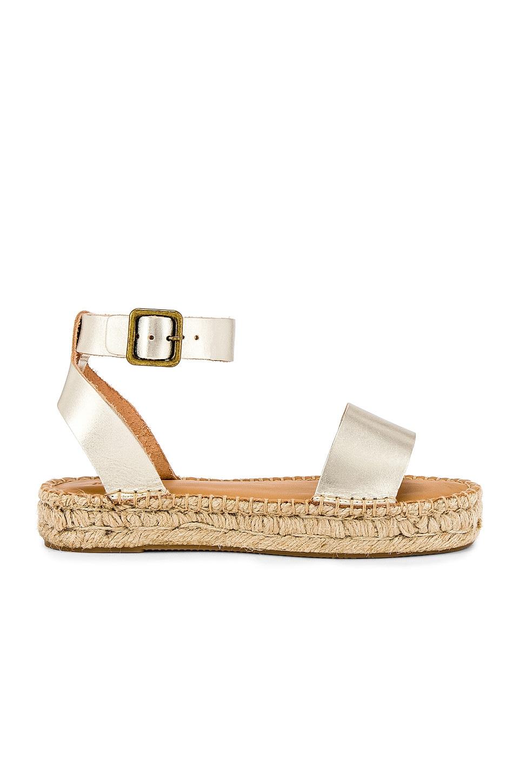 Soludos Cadiz Sandal in Platinum