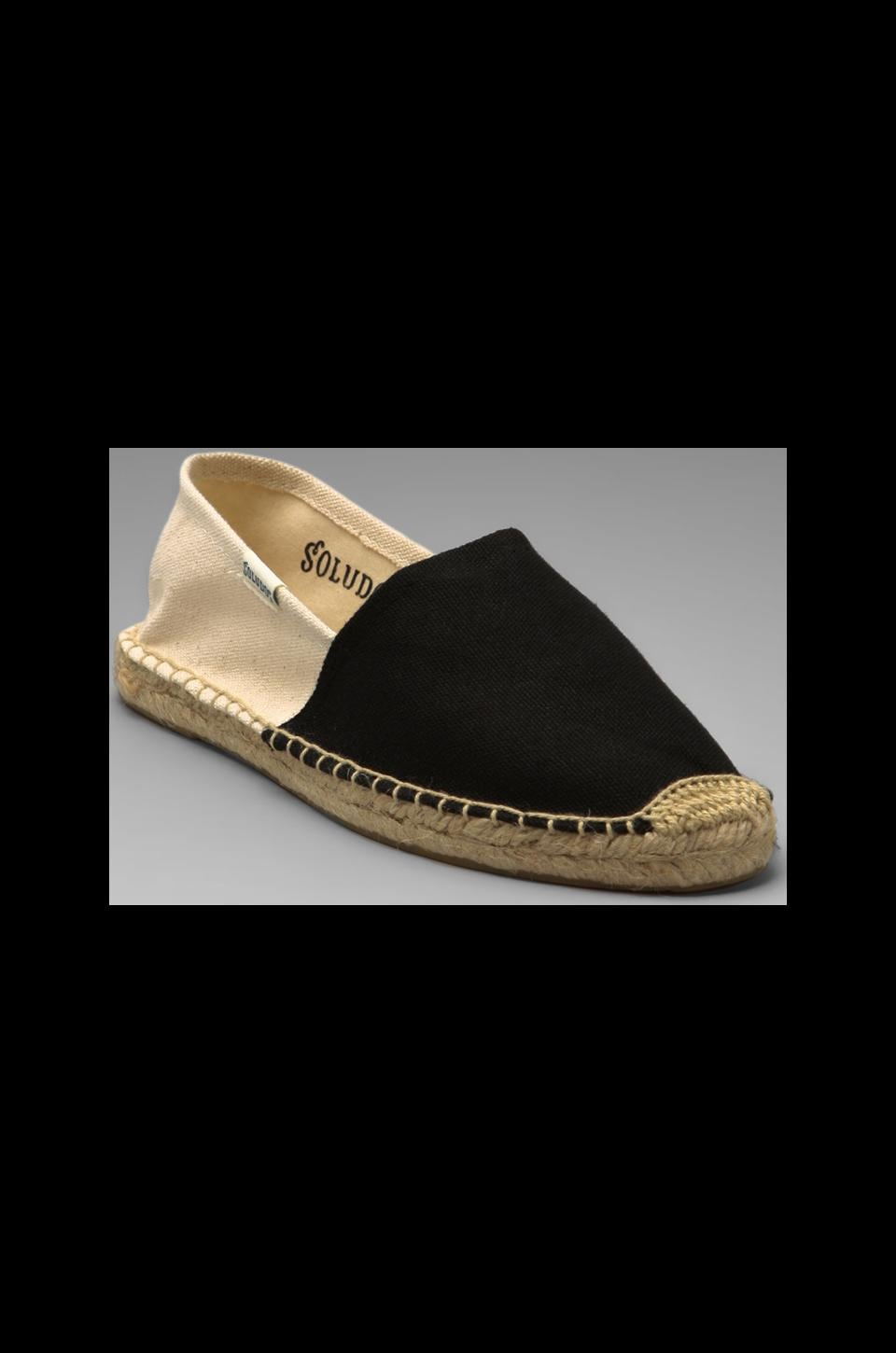 Soludos Color Black Flat in Black Natural