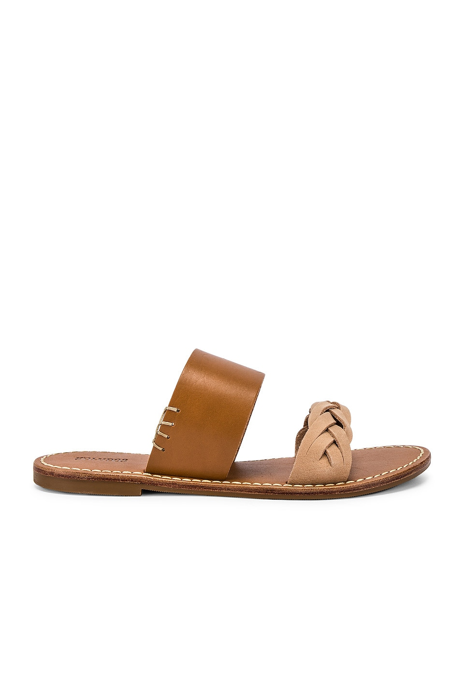 Soludos Braided Slide Sandal in Acorn Brown