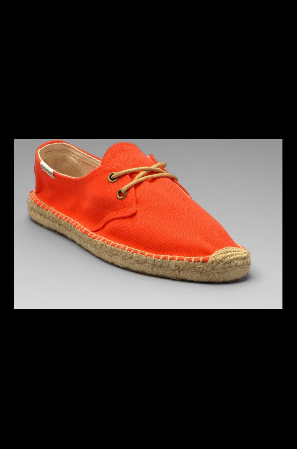 Soludos Canvas Derby Lace Up in Coral